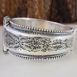 Indian Vintage !! Style Plain 925 Sterling Silver Bracelet