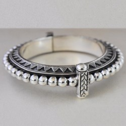 Stylish Indian!! Plain 925 Sterling Silver Bracelet