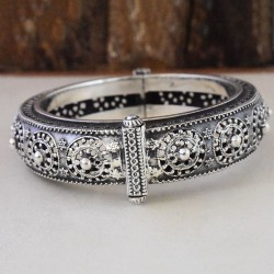 Tribal Rajasthani !! Boho  925 Sterling Silver Cuff Bracelet!!