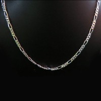 Sterling Figaro Chain !! Plain Silver 925 Sterling Silver Chain