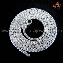Mens Womens Solid Rope Chain Plain Silver 925 Sterling Silver Chain