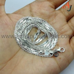 Classic Solid Curb Chain Plain Silver 925 Sterling Silver Chain