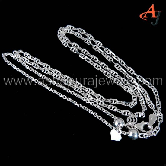 Beautiful High Polish !! Flat Cable Chain Plain Silver 925 Sterling Silver Chain