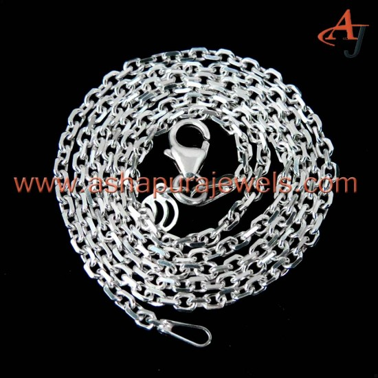 22.5 cm !! Cable Chain Plain Silver 925 Sterling Silver Chain