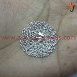 Great Quality !! Cable Chain Plain Silver 925 Sterling Silver Chain
