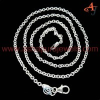 Simple !! Cable Chain Plain Silver 925 Sterling Silver Chain