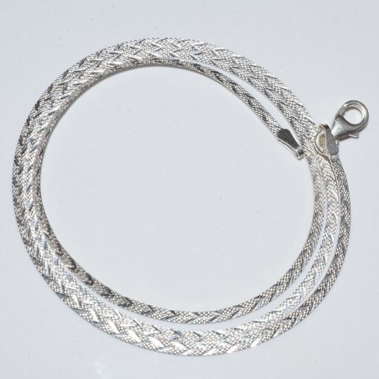 Beautiful White Plain Silver 925 Sterling Silver Chain