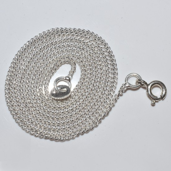 Lovely Plain Silver 925 Sterling Silver Chain