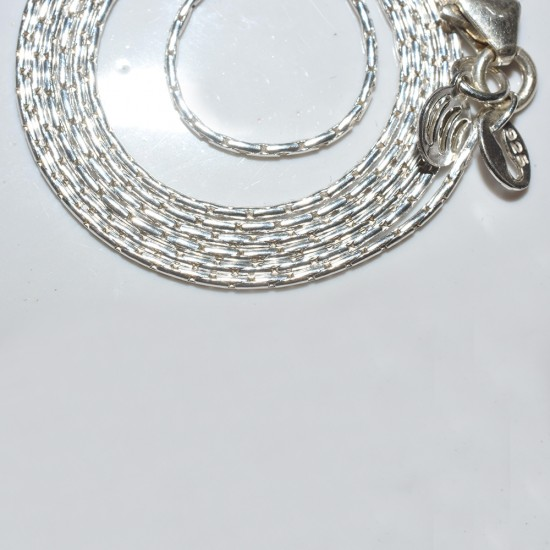 Natural Quality White Plain Silver 925 Sterling Silver Chain