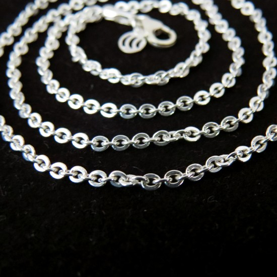 Well Looking Plain Silver 925 Sterling Silver Chain