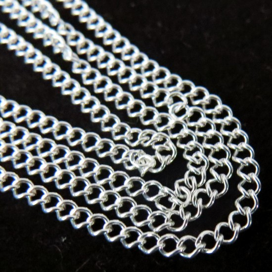 Good Looking Plain Silver 925 Sterling Silver Chain