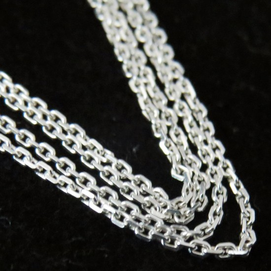 Delightful White Plain Silver 925 Sterling Silver Chain