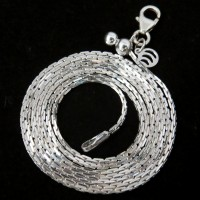 Glorious White Plain Silver 925 Sterling Silver Chain
