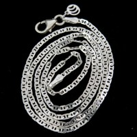 Authentic White Plain Silver 925 Sterling Silver Chain