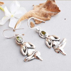 Yoga Baba !!  Amazing Peridot Gemstone Silver Jewelry Earring