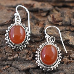 Amazing Red Onyx  925 Silver Dangle Earring!!