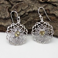 Charming Citrine Gemstone 925 Sterling Silver Earring
