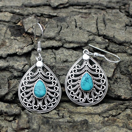 Good Looking Turquoise 925 Sterling Silver Earring