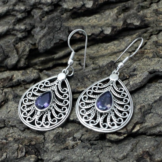 Blue Iolite 925 Sterling Silver Earring