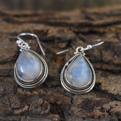 Sea Natural Rainbow Moonstone Earring For Her!!