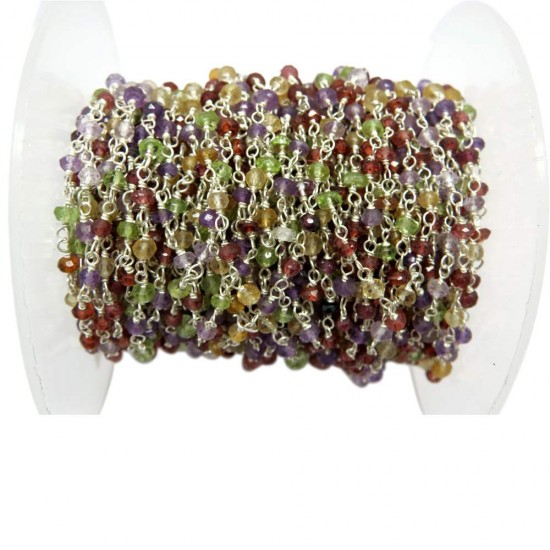 925 Sterling Silver !! Awesome Beads Multi Stone Gemstone Beads