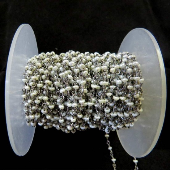 Unique Beads !! Fashionble Silver Beads Pearl Gemstone Beads