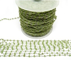 Unique Beads !! Peridot Silver Beads Green Color Gemstone Beads