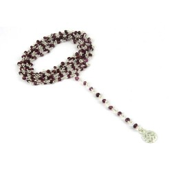 Lovely !! Beads Garnet 925 Sterling Silver Necklace