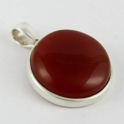 Spirit Of Peace !! Red Onyx 925 Sterling Silver Pendant