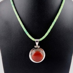 The One !! Red Onyx 925 Sterling Silver Pendant