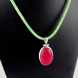Special Sale !! Red Aventurine 925 Sterling Silver Pendant