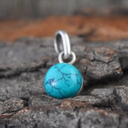 Green Turquoise 925 Sterling Silver Pendant