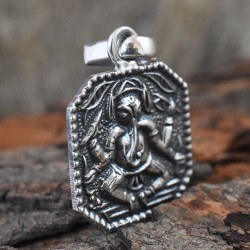 Lord Ganesh Plain Silver 925 Sterling Silver Pendant