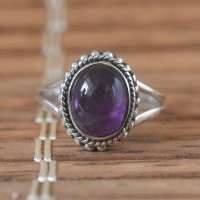 Amethyst 925 Sterling Silver Ring!!