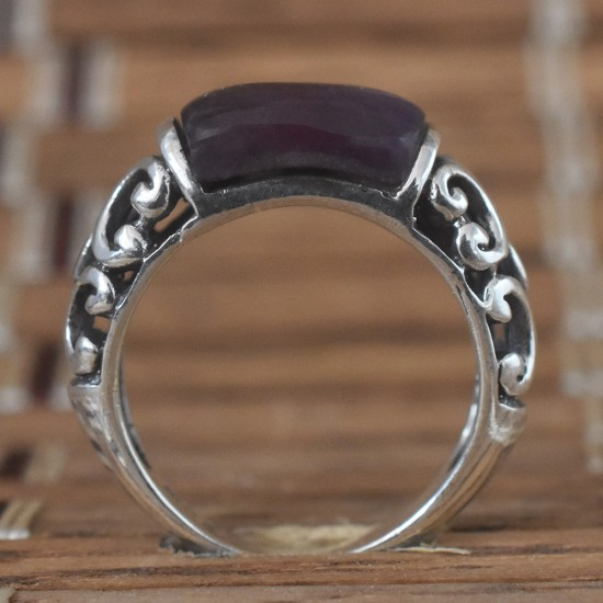 Amethyst Gemstone 925 Sterling Silver Ring For Her!!