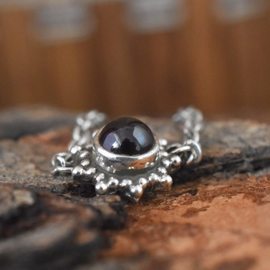 As Pretty As Picture Garnet Silver Ring