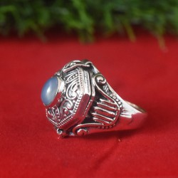 Chalcedony Poison Ring with 925 Sterling Silver Ring!!