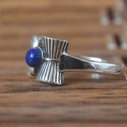 Lapis Lazuli !! Aum 925 Sterling Silver Ring!!