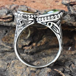 Lovely Double Cut Gemstone 925 Sterling Silver Ring