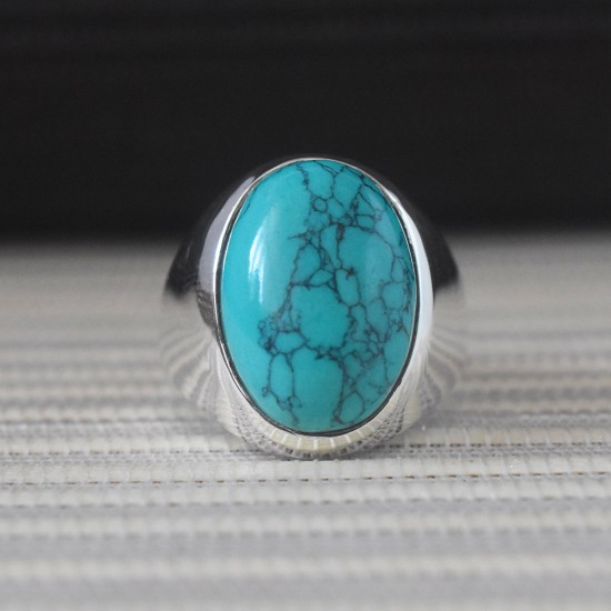 Turquoise Gemstone 925,Sterling Silver Ring