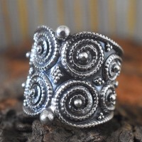 Unique Rawa Work Plain 925 Sterling Silver Ring