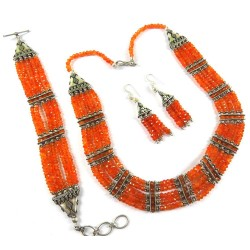 Carnelian Is An Energy Booster !! 925 Sterling Silver Set