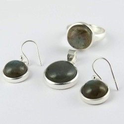 Blue Fire Labradorite !! 925 Sterling Silver Set