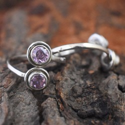 Beautiful Pink C.Z Stone 925 Sterling Silver Toe Ring