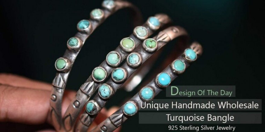 sterling silver jewellery bangle stones jaipur