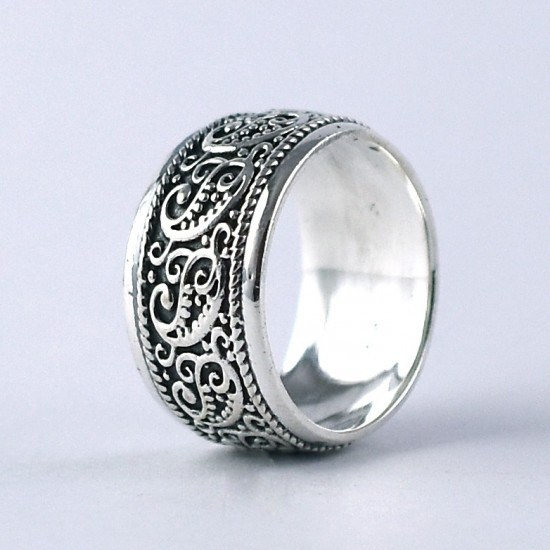 925 Sterling Plain Silver Band Ring Oxidized Silver Jewelry Manufacture Silver Jewelry Exporter