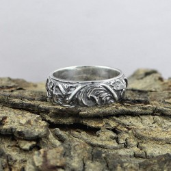 925 Sterling Plain Silver Handmade Band Ring Jewelry