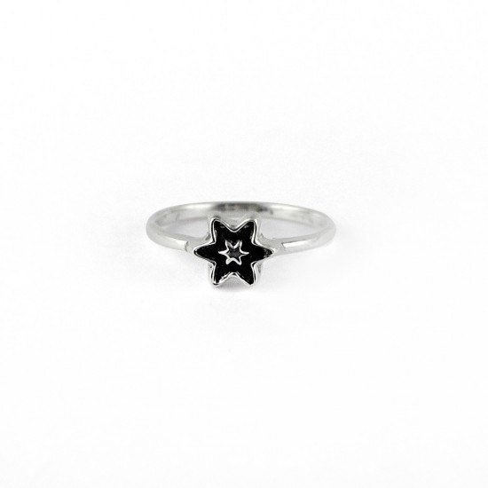925 Sterling Plain Silver Handmade Star Design Ring Indian Silver Jewelry