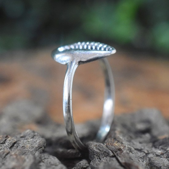 925 Sterling Plain Silver Kodi Shape Band Ring Handmade Oxidized Silver Jewellery