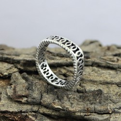 925 Sterling Plain Silver Handmade Band Ring Party Wear Jewelry
